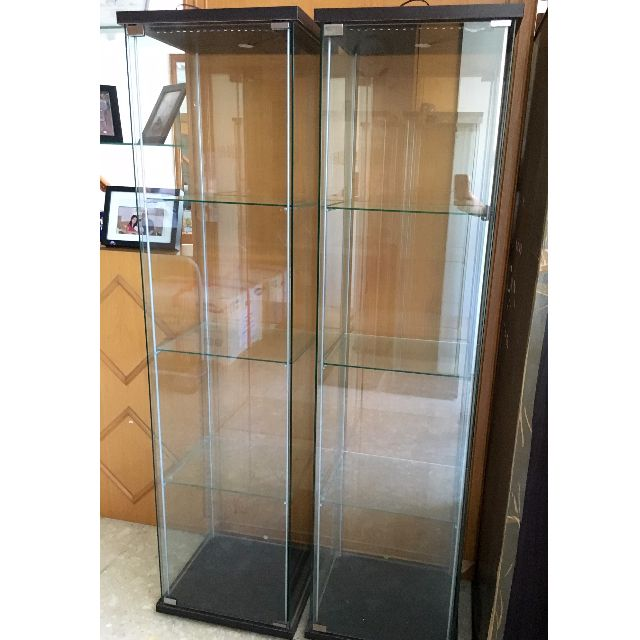 2 Ikea Display Cabinet with LED lighting