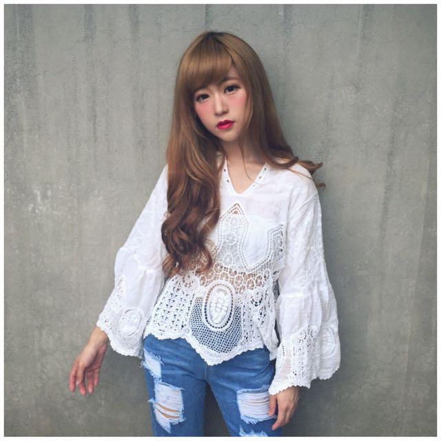 #656 宮廷蕾絲復古罩衫(附平口小可愛)