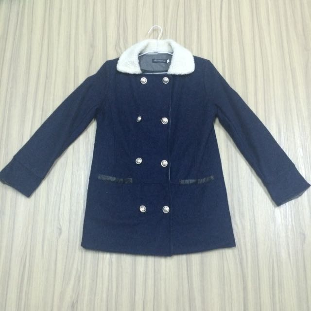 超厚料深藍舖棉冬外套隨便賣 #500元好外套