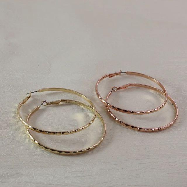 【現貨】歐美時尚復古圓圈耳環