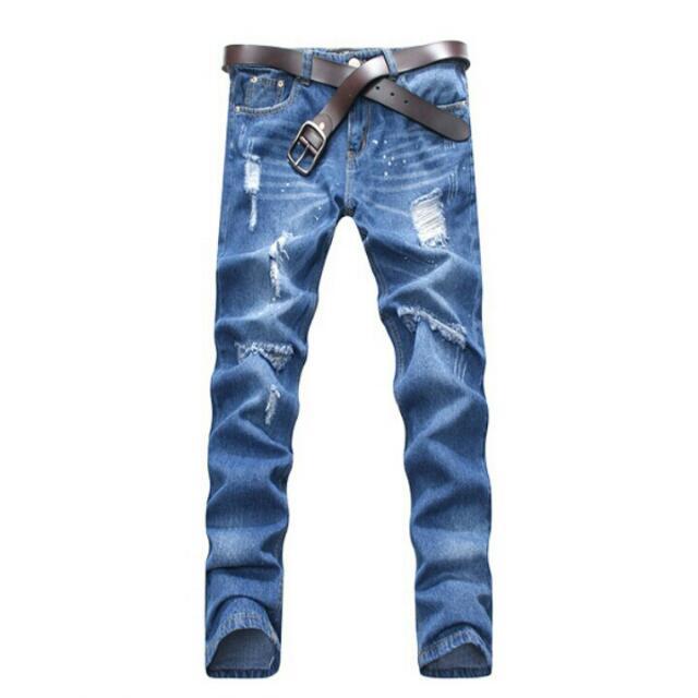 全新 破壞潑漆單寧牛仔褲 30腰
