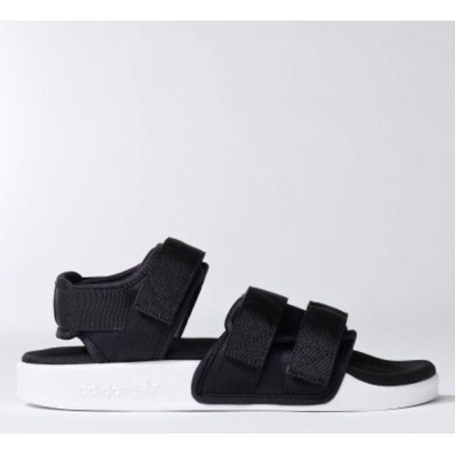 預購//adidas涼鞋 黑