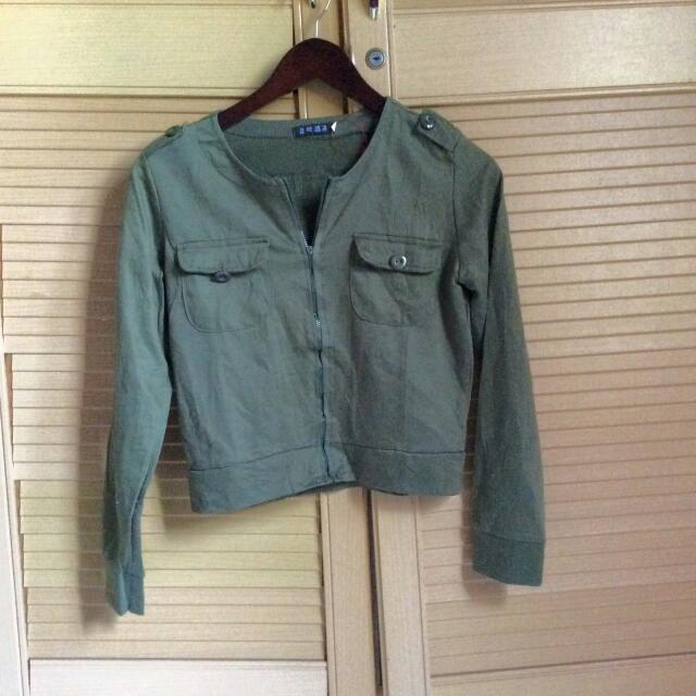 Army Crop Bomber Jacket