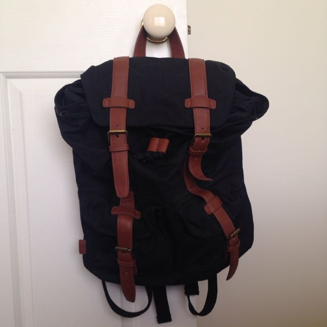 Asos Black Backpack Bag