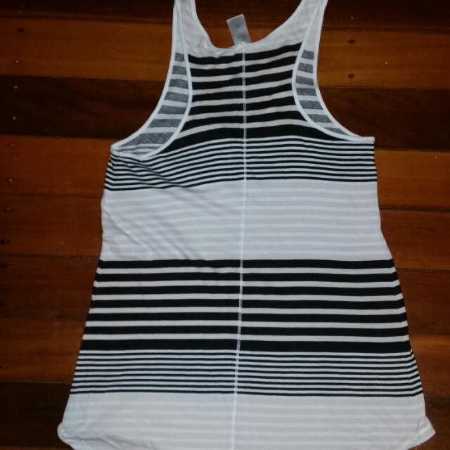 Black & gray Top Size 8