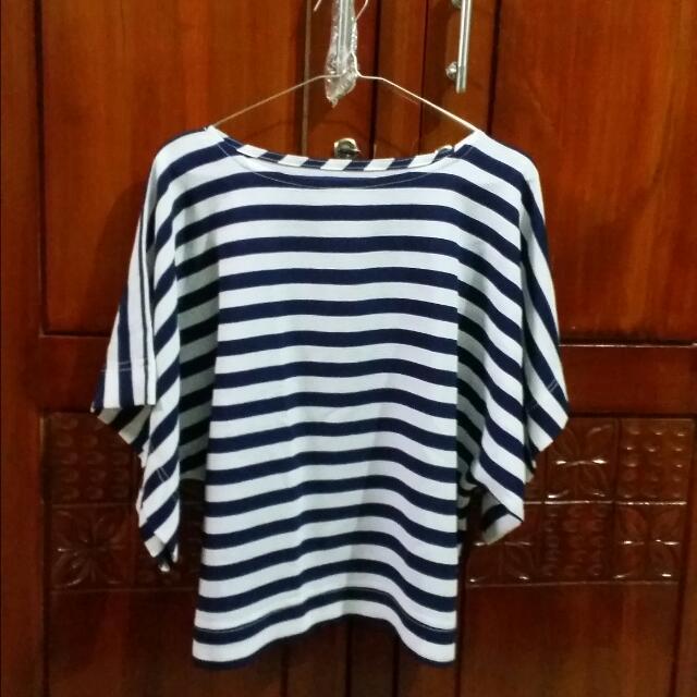 Blouse Blue Stripe