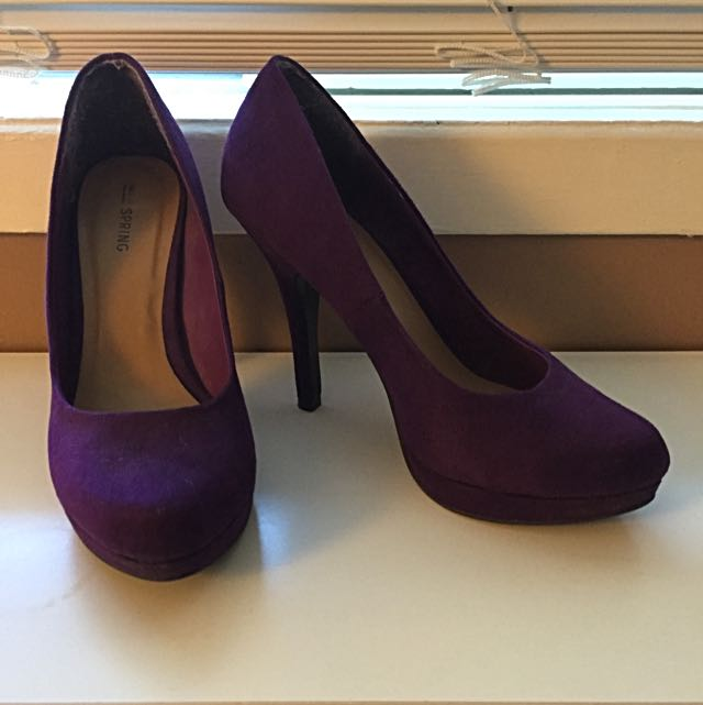 Call It Spring Purple Pumps