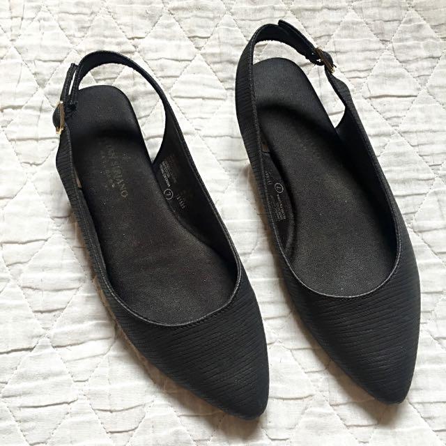 Christian Siriano Classy Black Flats
