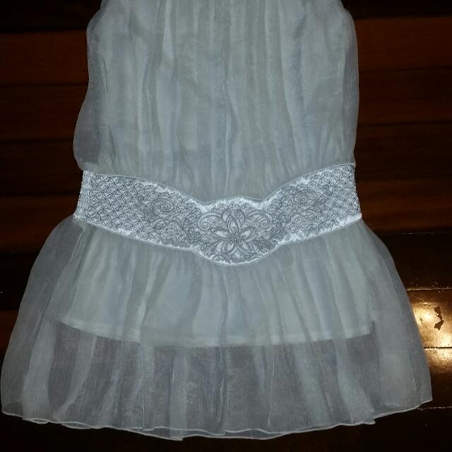 Cream, White Dress Size 8-10 Uk