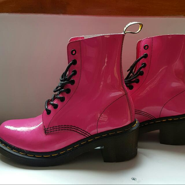 Dr Martens Clemency Shoes Hot Pink Size 7