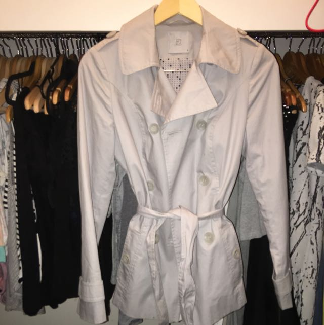Grey/silver Trench Coat