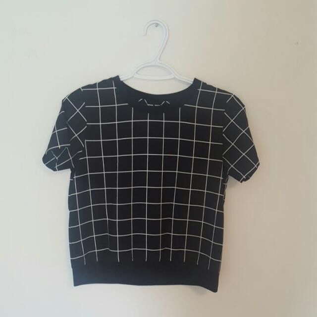 Grid Pattern Top From Penshoppe