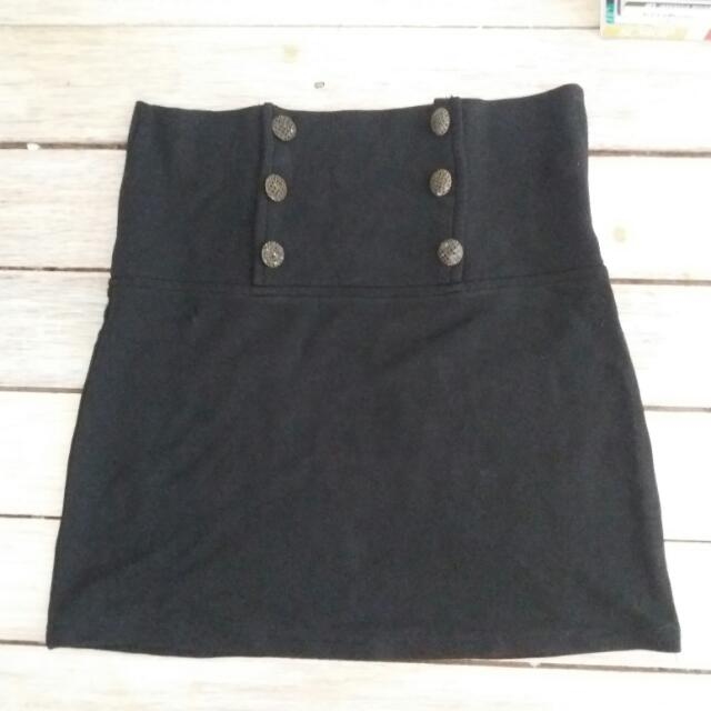 High Waisted Black Skirt