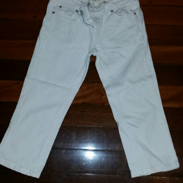 Just Above The Ankle (White Jeans Size 10)