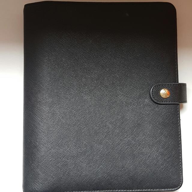 Large Black Leather Kikki K Diary