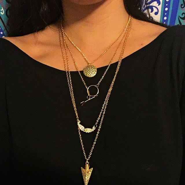 Layered Arrowhead Necklace