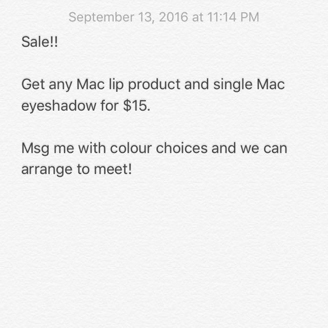Mac Eyeshadow & Lippies