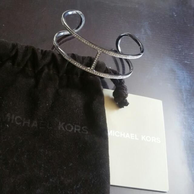 Michael Kors Pave Silver Cuff