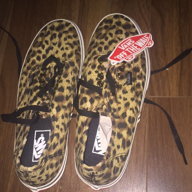NEW cheetah Print Vans