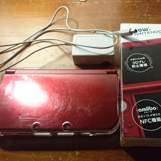 New n3ds LL 已改A9LH 近全新 附保護殼+充電器+64G記憶卡