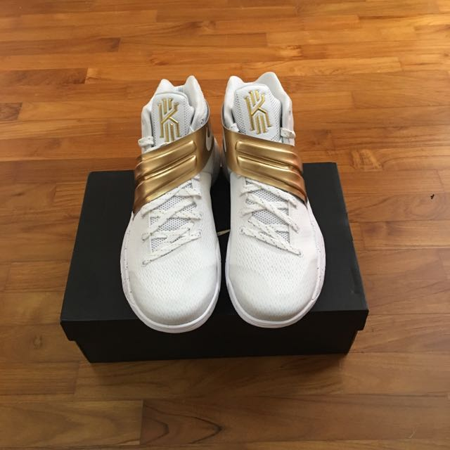huge discount 28451 7be67 Nike Kyrie 2 Championship ID White/Gold, Sports, Sports ...