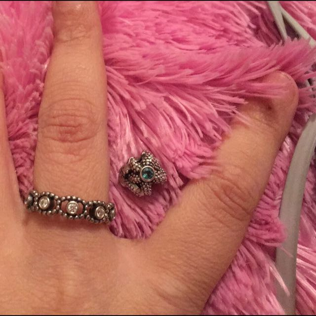 Pandora Ring And Star Fish Charm