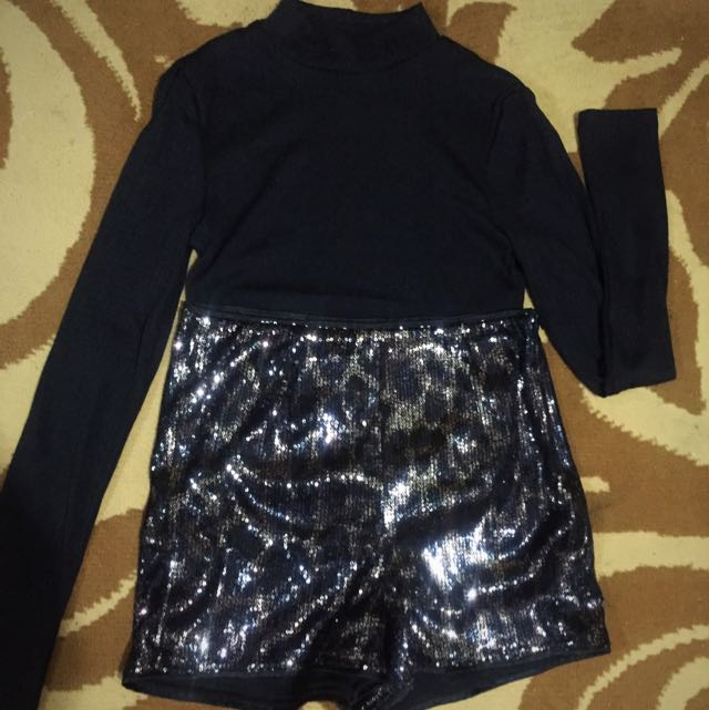 People Are People Sequined Party Short size S
