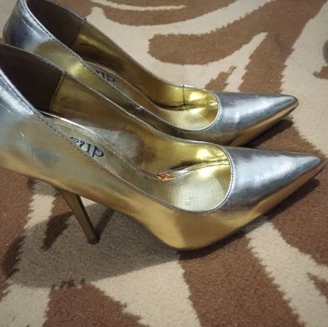 People Are People Syrup Gold Stiletto Size 35