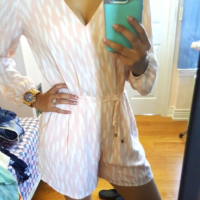 Silk Pink & White Jumpsuit