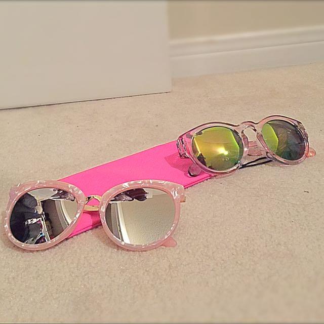 Pink Shell Sunglasses