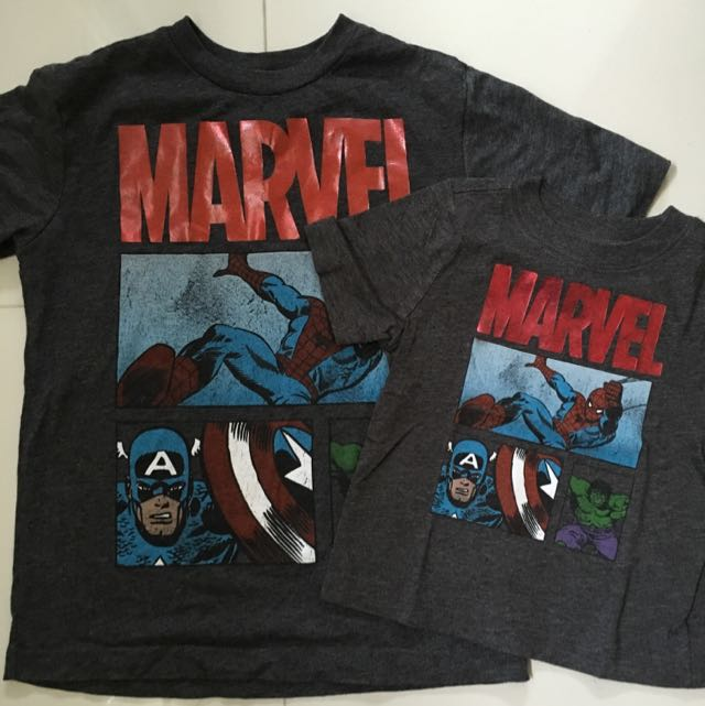 Preloved Old Navy Marvel Tees Babies Kids Boys Apparel On Carousell