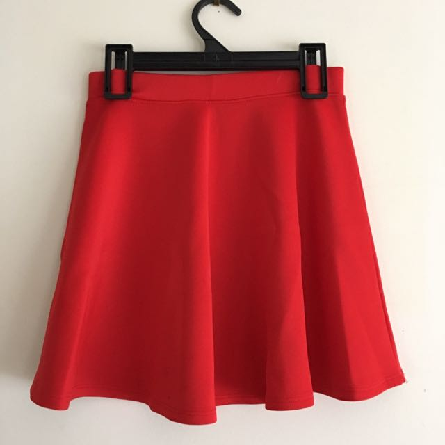 Red Skater Skirt Size XS