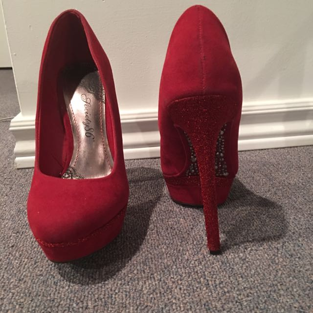 Red Sparkly Pumps