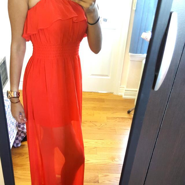 Reddish Orange Dress
