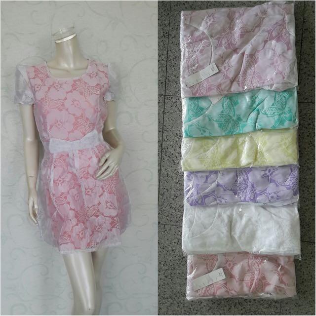 SALE!!! Dress Wanita Motif Bunga MURAH!!