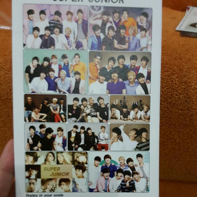Super Junior Post Card Set BONUS lightstick