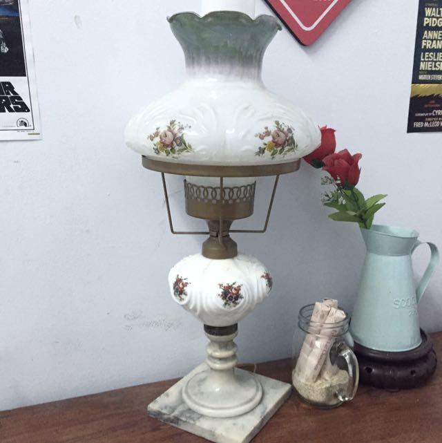 vintage rose white lamp