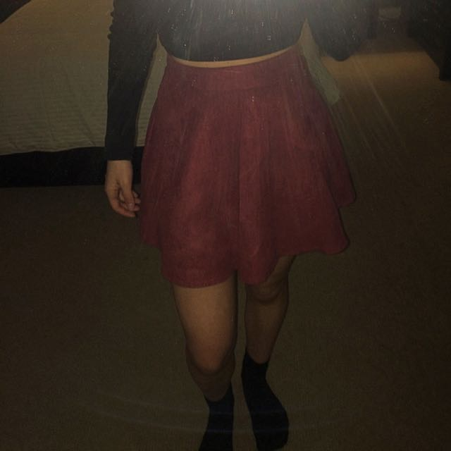 Woman's Suede Skater Skirt