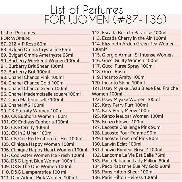 Women's Perfume (101% Authentic)