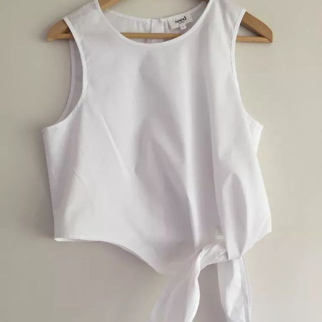 Women's SEED White Top Size 10 RRP$69.95