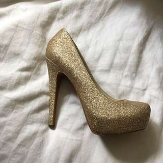 Golden Sparkle ALDO heels