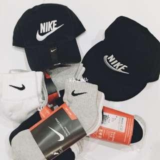 Nike Logo 刺繡棉質硬挺黑色老帽 後扣帽棒球帽 Sanpback 可調整 現貨 正品實拍