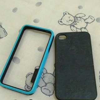 Bumper + Wooden Case Iphone 4/4s