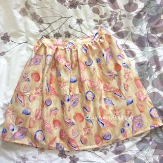 Handmade (by Seller) Seashell Skirt With Pockets.  Fits S/m