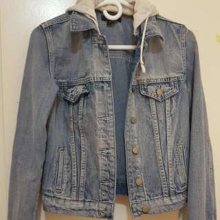 Size S Denim Jacket w/ Hood