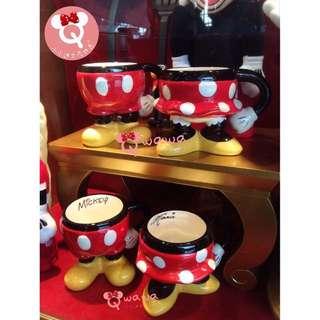 🇭🇰香港迪士尼✨超可愛米奇屁屁💕米妮洋裝 馬克杯/對杯