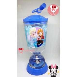 🇭🇰香港迪士尼樂園✨超人氣 冰雪奇緣 艾莎&安娜&雪寶立體公仔 兒童吸管冷水壺❤️