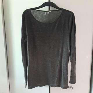 H&M Scoop Neck Long Line Lightweight Sweater