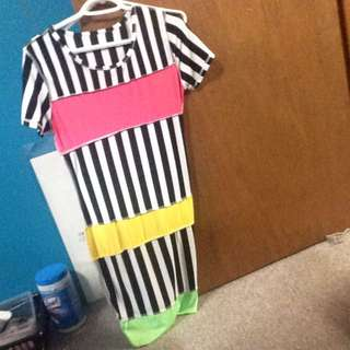 Striped Party Dress