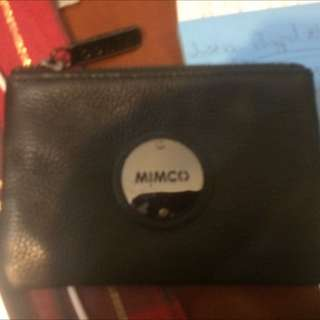 Leather Small Mimco Pouch Used Once